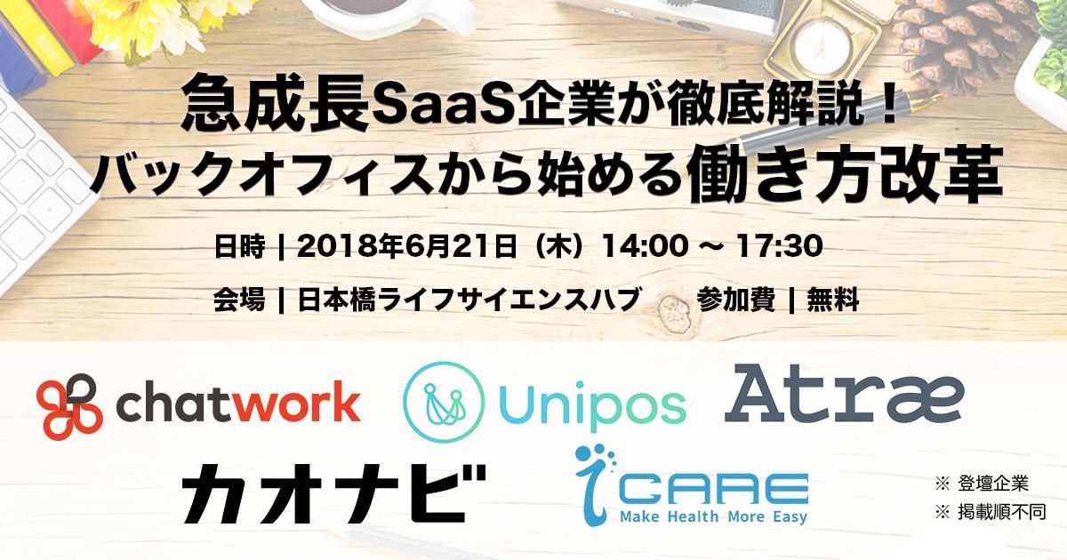 急成長SaaS企業5社が登壇!バックオフィスから始める働き方改革
